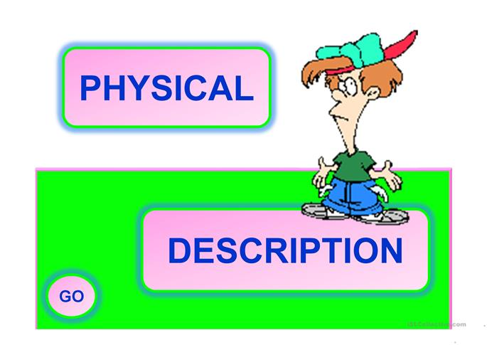 PHYSICAL DESCRIPTION -  a PPT baloon game with 18 slides - ESL powerpoints