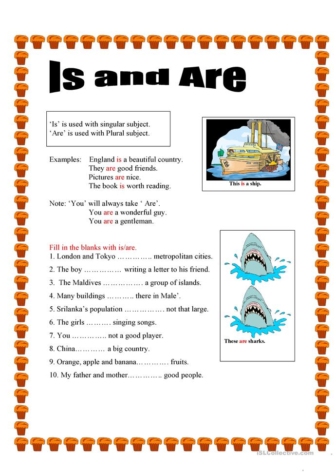 ... Is and Are worksheet - Free ESL printable worksheets made by teachers