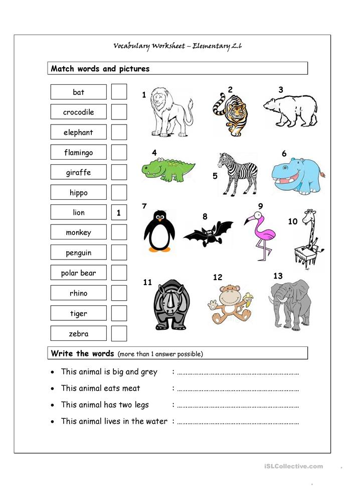 math worksheet : 65 free esl wild animals worksheets : Wild Animals Worksheets For Kindergarten