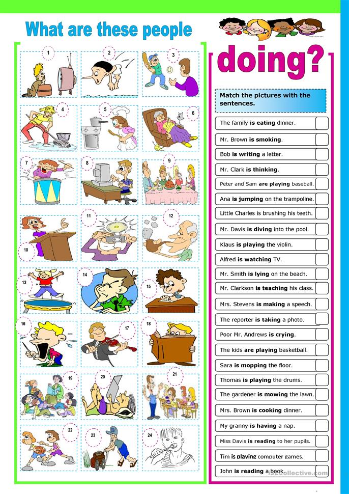 What are these people doing? - ESL worksheets