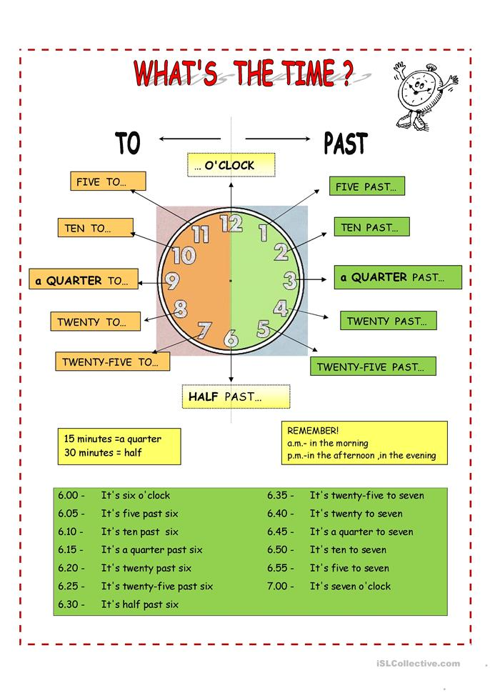 telling time free worksheets