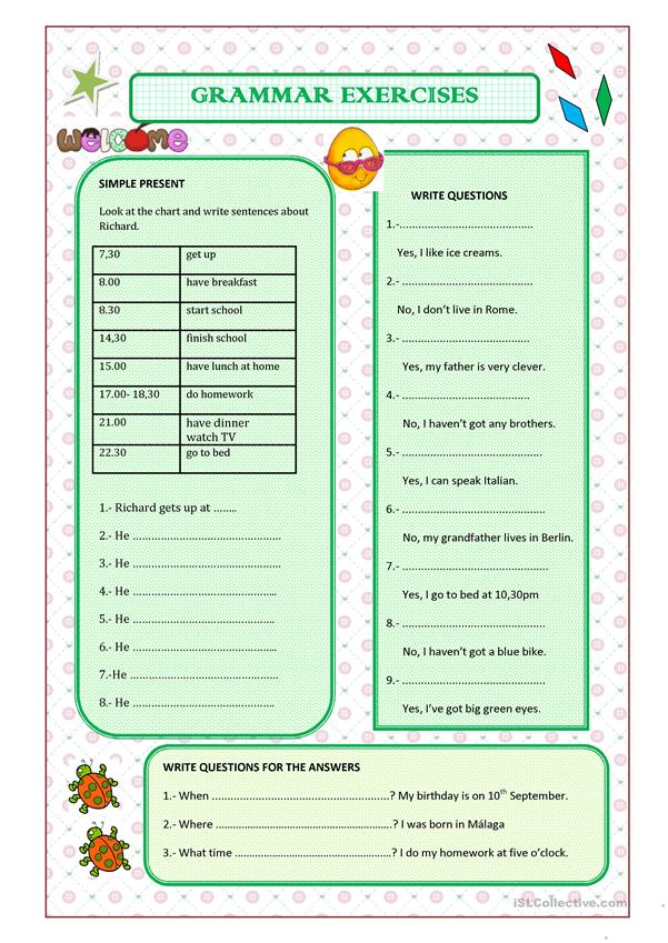 grammar exercise Suitable for grades 1 - 3, grammar bees lets you help the bees find flowers by selecting the correct verb in each sentence play grammar bees online, here.