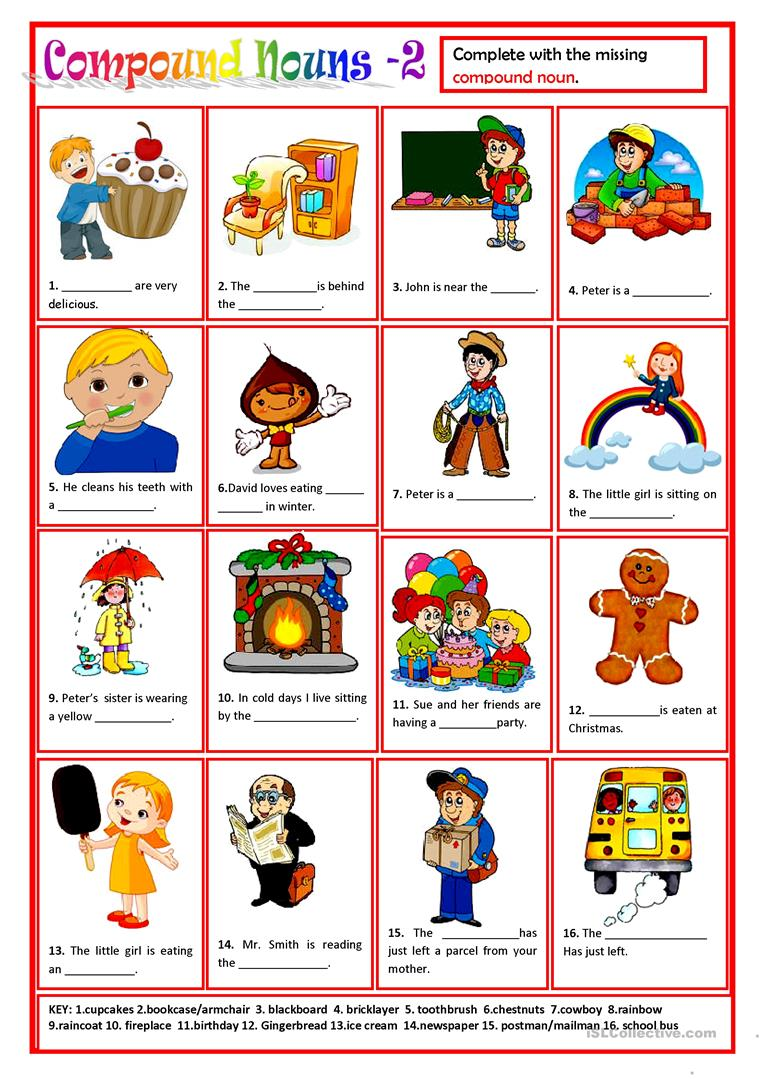 COMPOUND NOUNS 2 worksheet Free ESL printable worksheets made by – Compound Nouns Worksheet