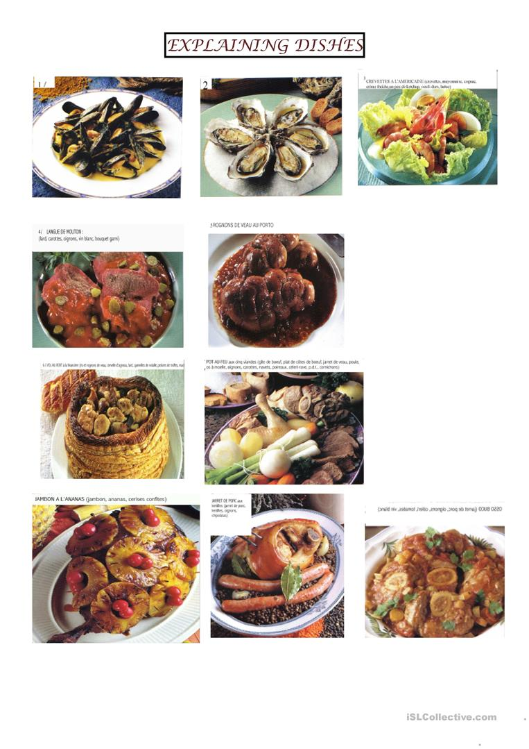 17 free esl dishes worksheets explaining dishes forumfinder Images