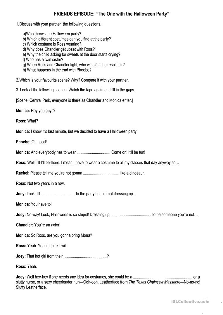 Worksheets Your You Re Worksheet friends episode worksheet free esl printable worksheets made by full screen