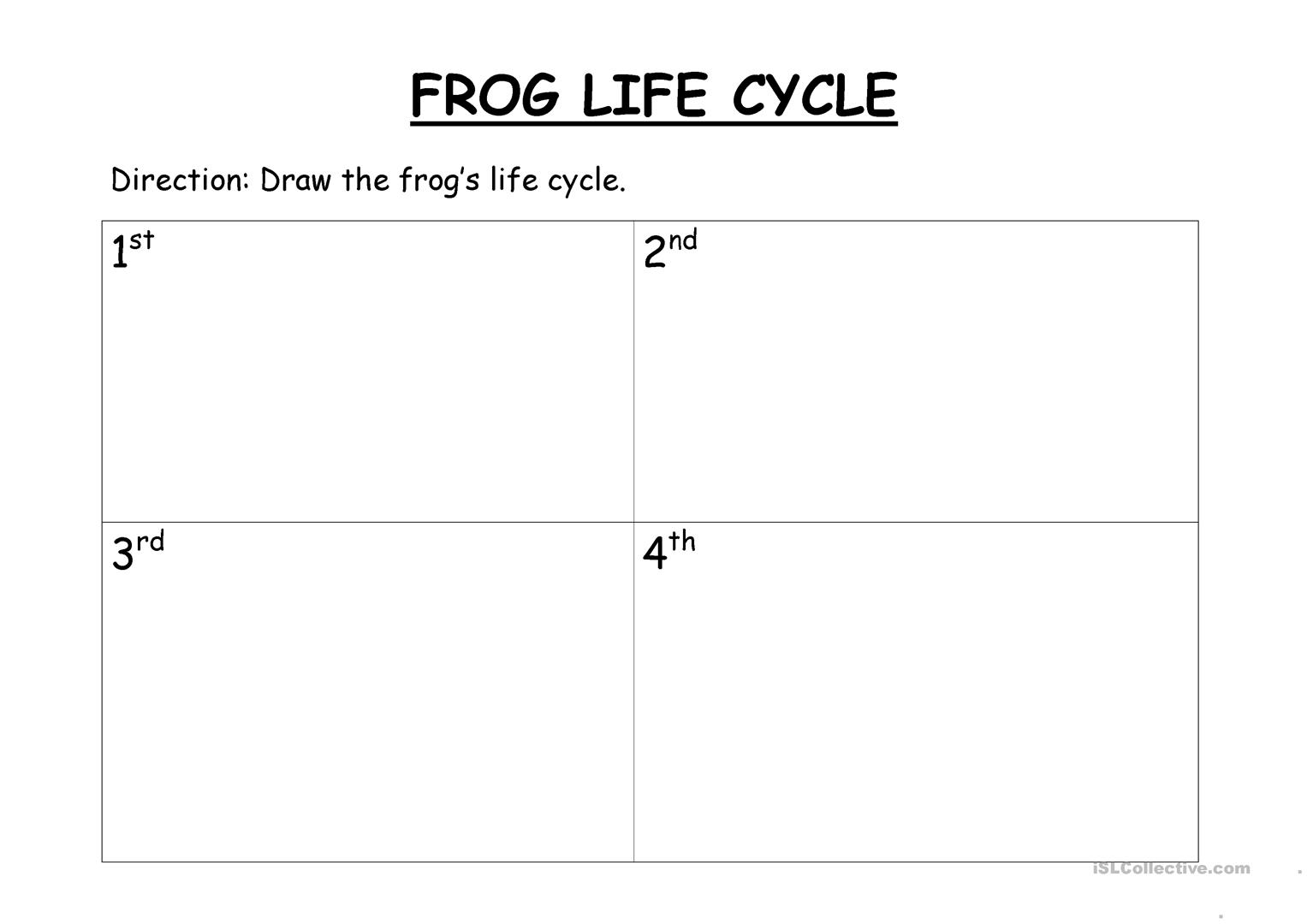 Worksheets Frog Life Cycle Worksheet frogs life cycle worksheet free esl printable worksheets made by full screen