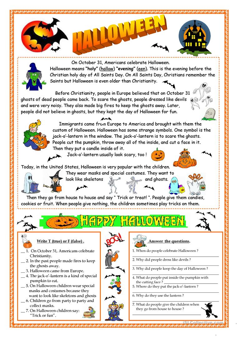 Halloween  Reading Worksheet  Free Esl Printable. Bar Chart Ideas Ks2. Quick Display Ideas. Wall Sconce Ideas. Kitchen Designs Ideas.org. Desk Styling Ideas. Wedding Ideas Peacock. Room Ideas With Christmas Lights. Basement Landing Ideas