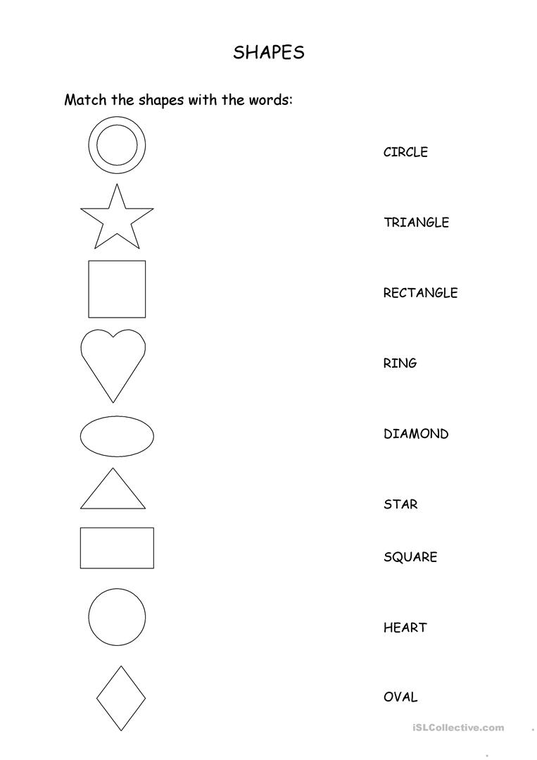 Worksheets Worksheet-about-shapes 119 free esl shapes worksheets match the with words