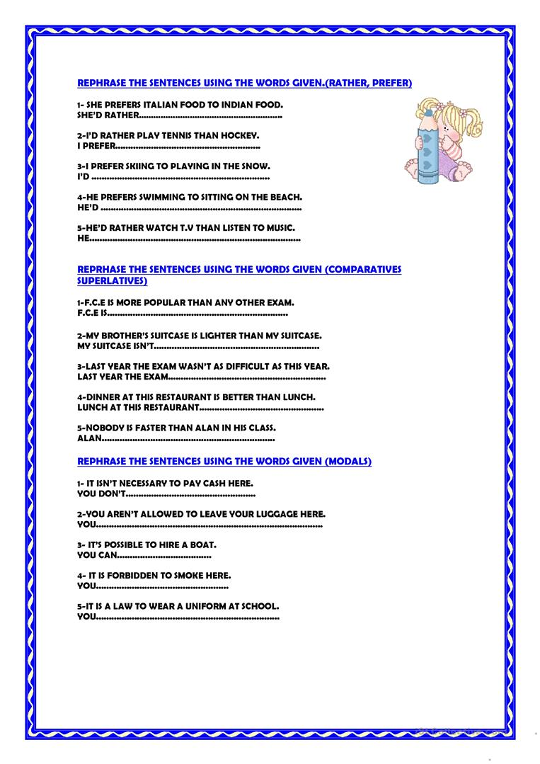 Worksheets Paraphrasing Worksheets worksheet paraphrasing mytourvn study site free esl printable worksheets made by full screen