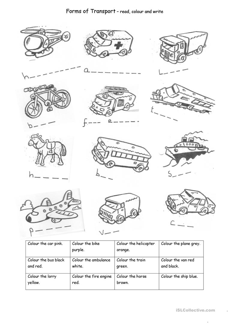 transport worksheet free esl printable worksheets made by teachers. Black Bedroom Furniture Sets. Home Design Ideas