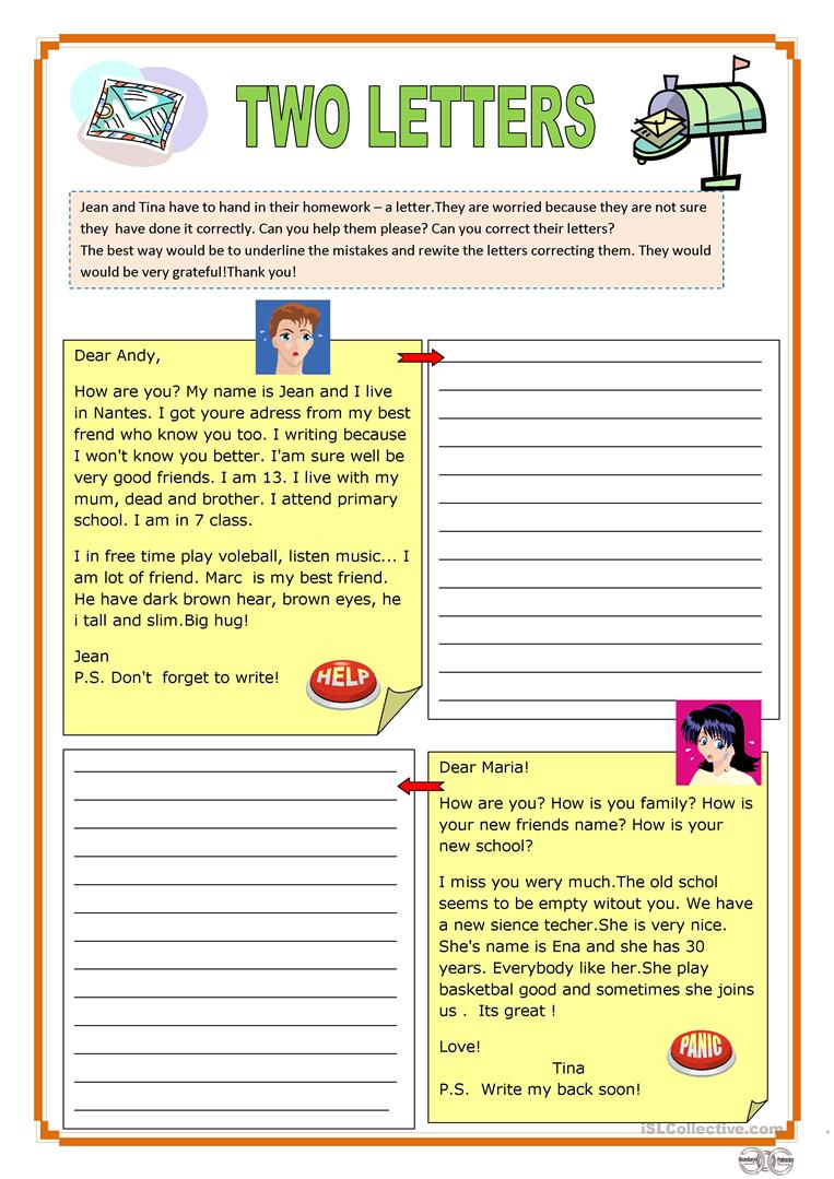 15 Free Esl Correct The Mistakes Worksheets