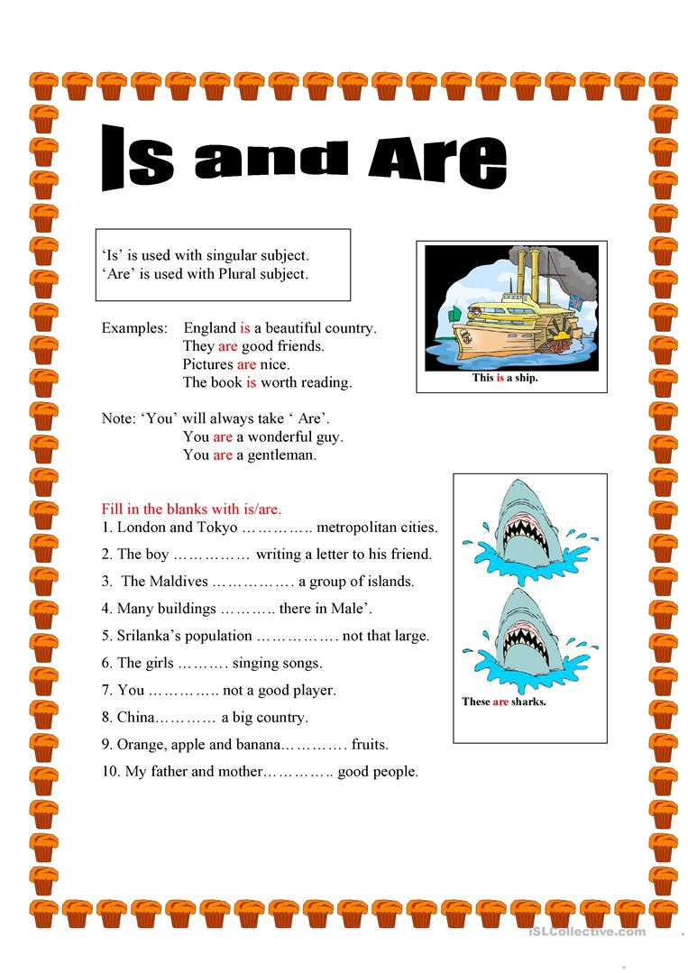 Use of Is and Are worksheet Free ESL printable worksheets made – Is Are Worksheets