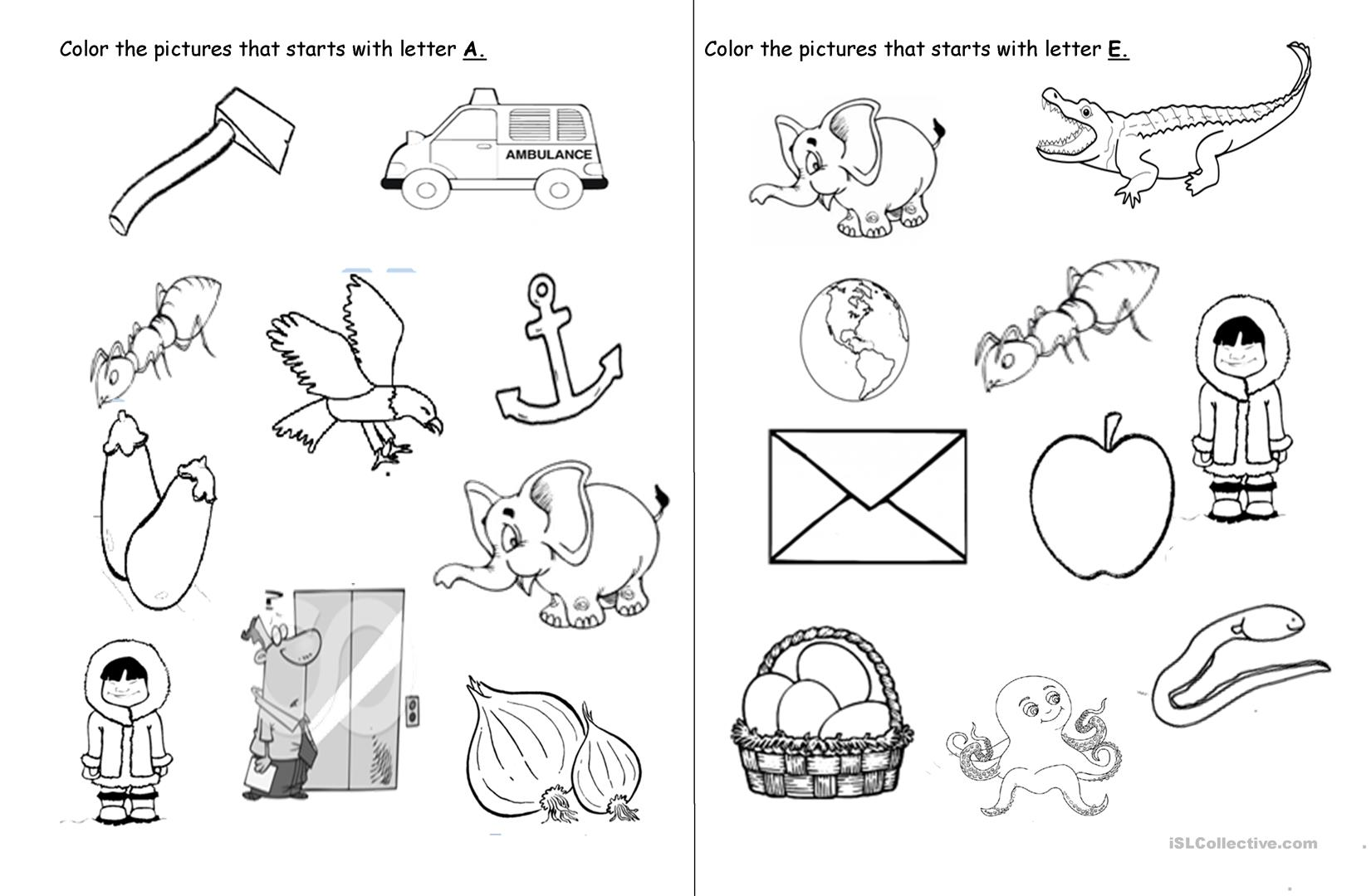 - Vowel Letters - English ESL Worksheets For Distance Learning And