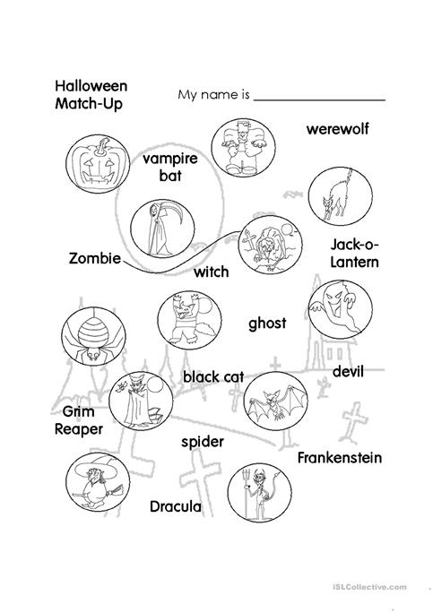 halloween match up kids