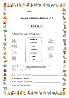 Test for 4th grade
