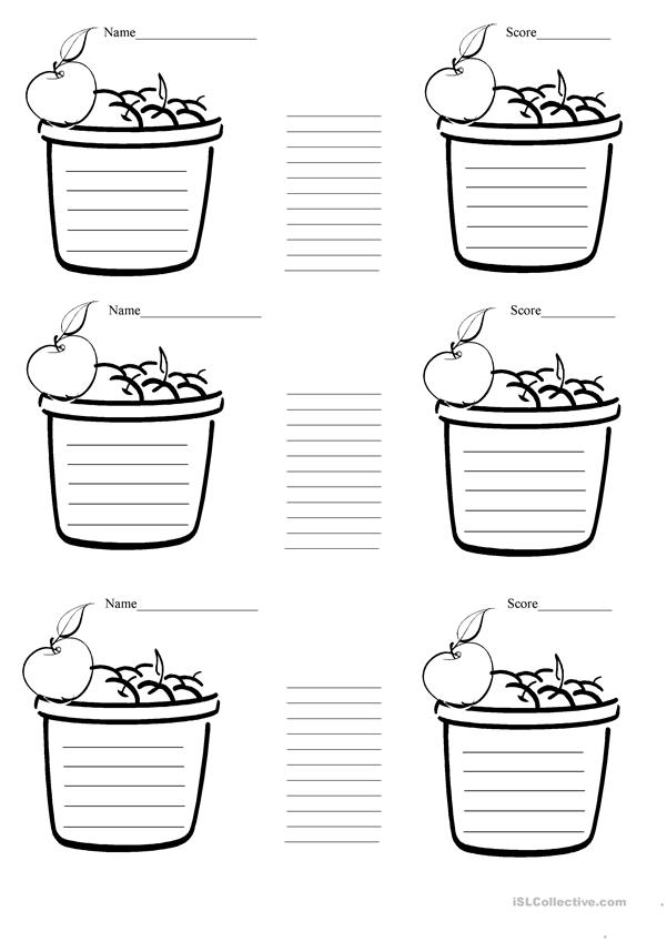 Baskets for sorting tasks