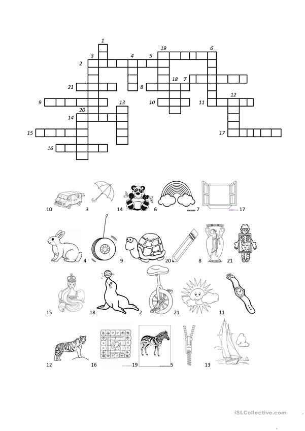 CROSSWORD S-Z