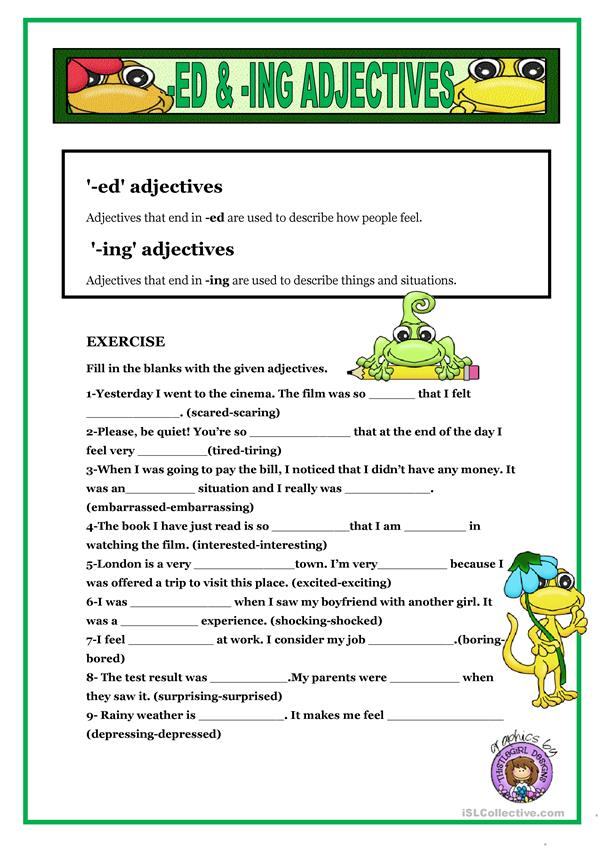 -ED & -ING ADJECTIVES