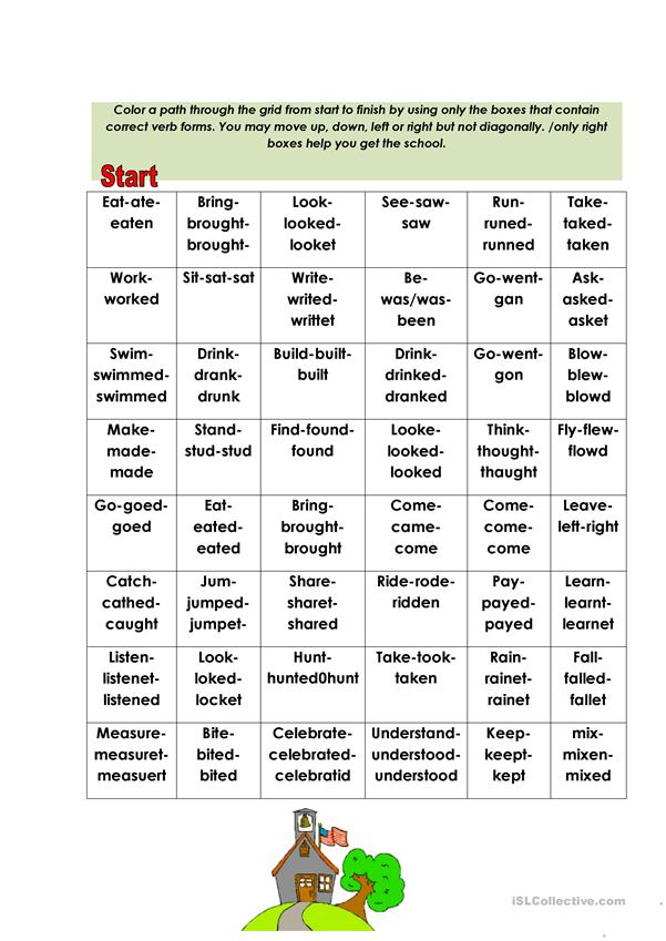 IRREGULAR VERBS SPELLING CHECKING IN 5 MINUTES!