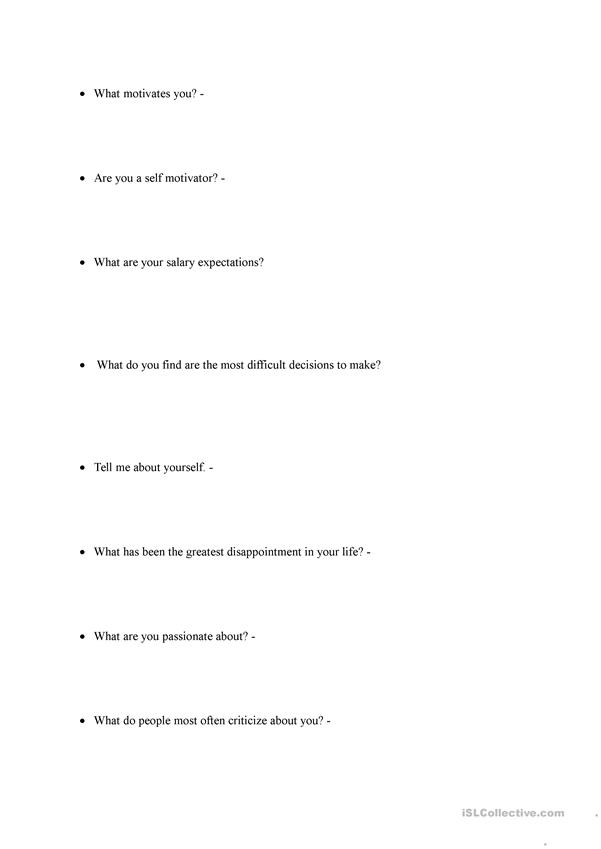 job interview faq