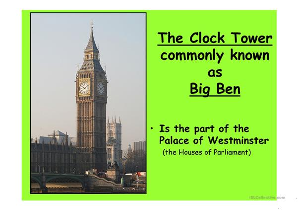 London 3 (from 10 parts) - powerpoint