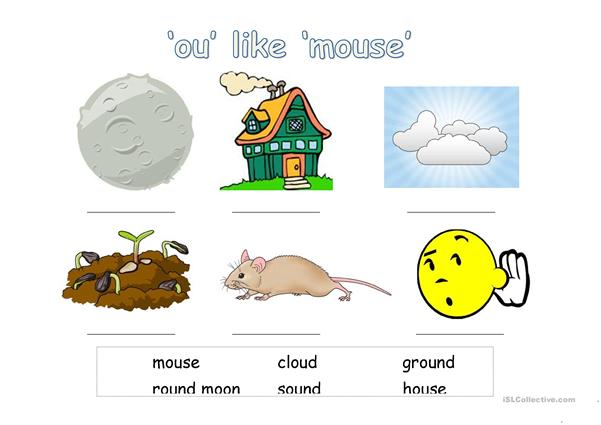 ou like mouse - phonics
