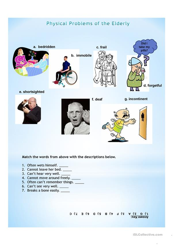 Physical Problems of the Elderly