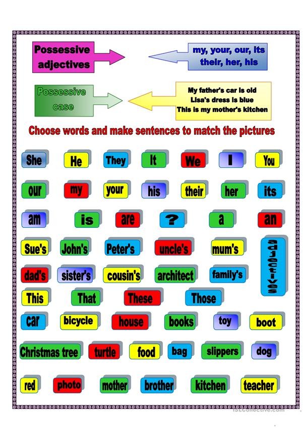 Possessives and.....