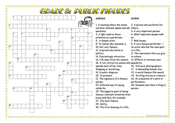 Public Figures Crossword