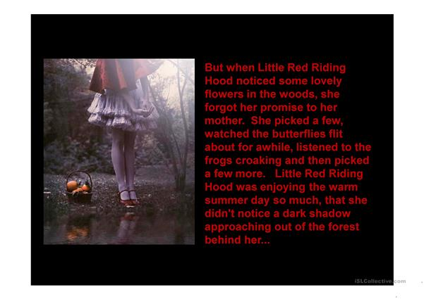 Red Riding Hood Story..
