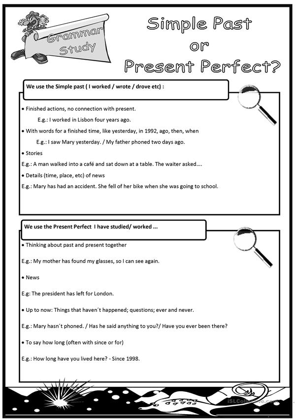 Simple Past vs Present Perfect