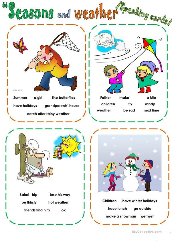 WEATHER, SPEAKING CARDS