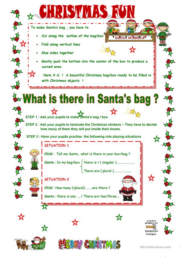 What is there in Santa's bag ?