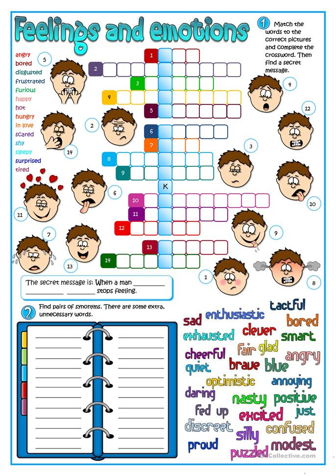 589 FREE ESL Feelings, emotions worksheets