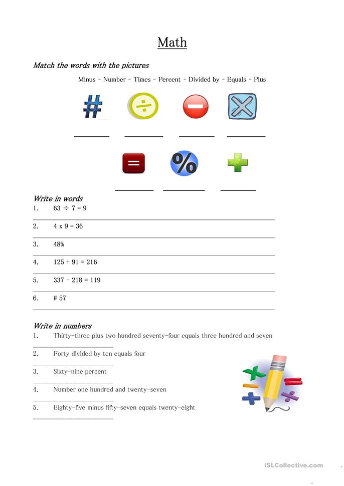 Printables Math Vocabulary Worksheets math vocabulary worksheet free esl printable worksheets made by teachers