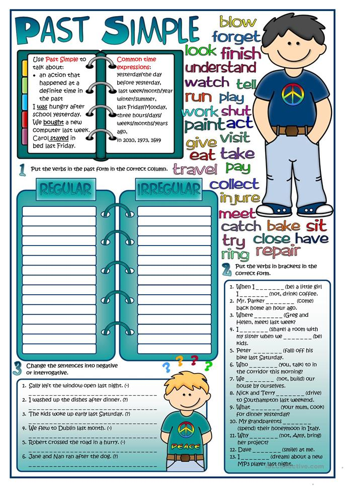 Past Simple tense - ESL worksheets