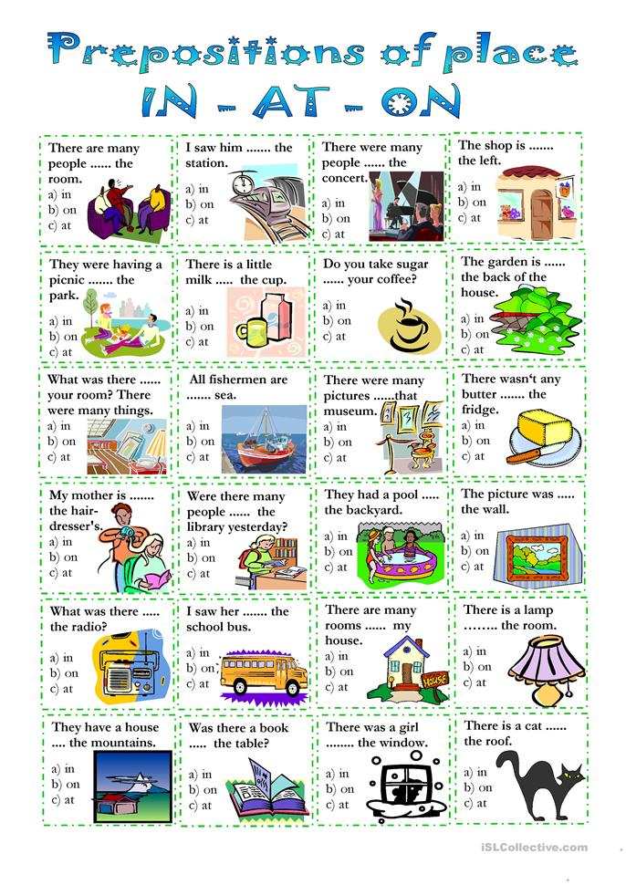 prepositions of place worksheet - Free ESL printable worksheets made ...