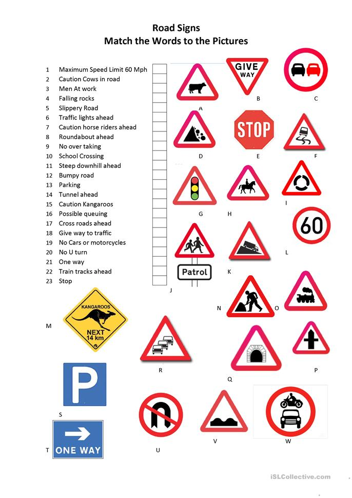 Worksheet Traffic Signs Worksheets 53 free esl signs worksheets road signs