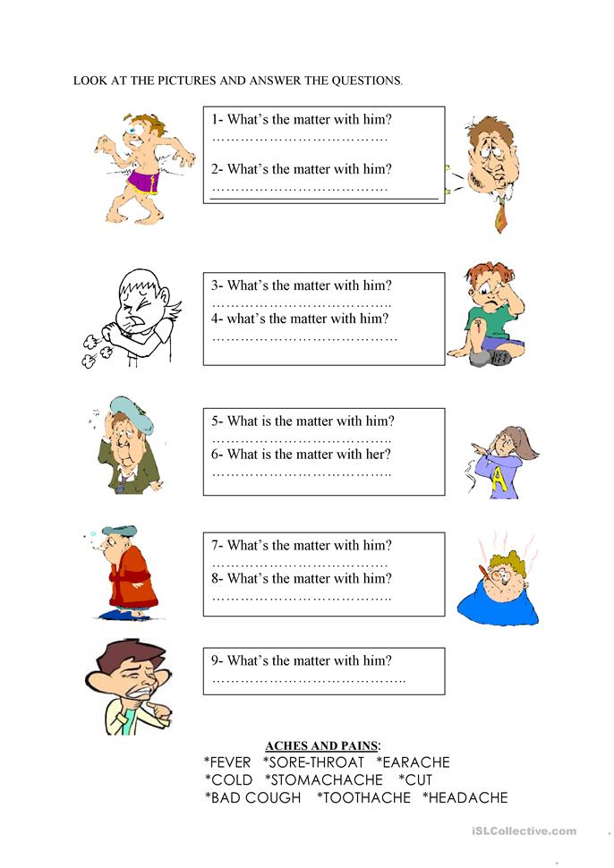 S S Worksheets : What s the matter worksheet free esl printable