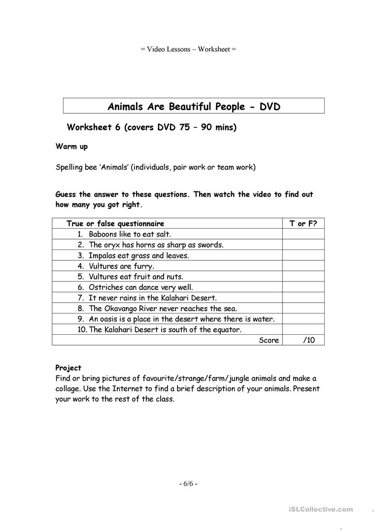 Here it is, the only audio or video response worksheet you will ...