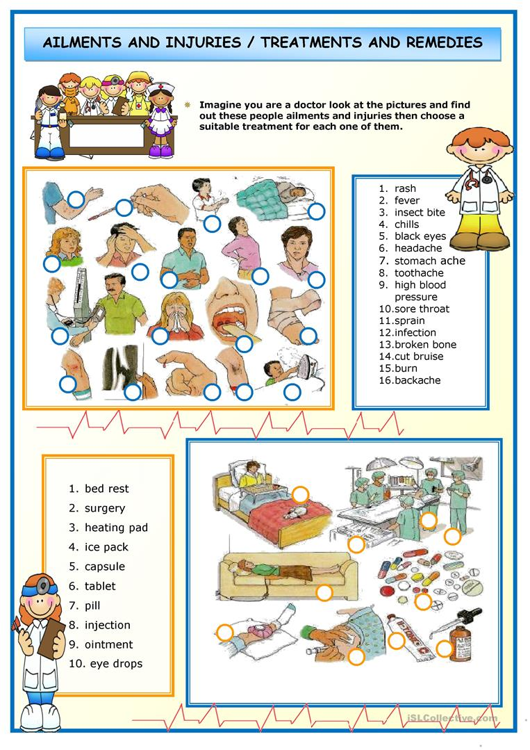 407 FREE ESL Health going to the doctor worksheets – Health Worksheets