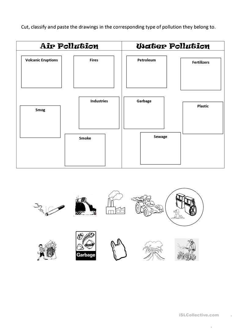 worksheet Air Pollution Worksheet air pollution practice worksheet free esl printable worksheets full screen