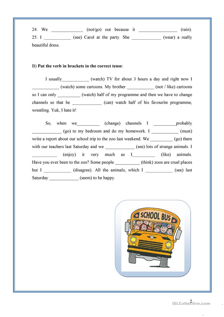 MIXED VERB TENSES worksheet Free ESL printable worksheets made – Verb Tense Worksheets