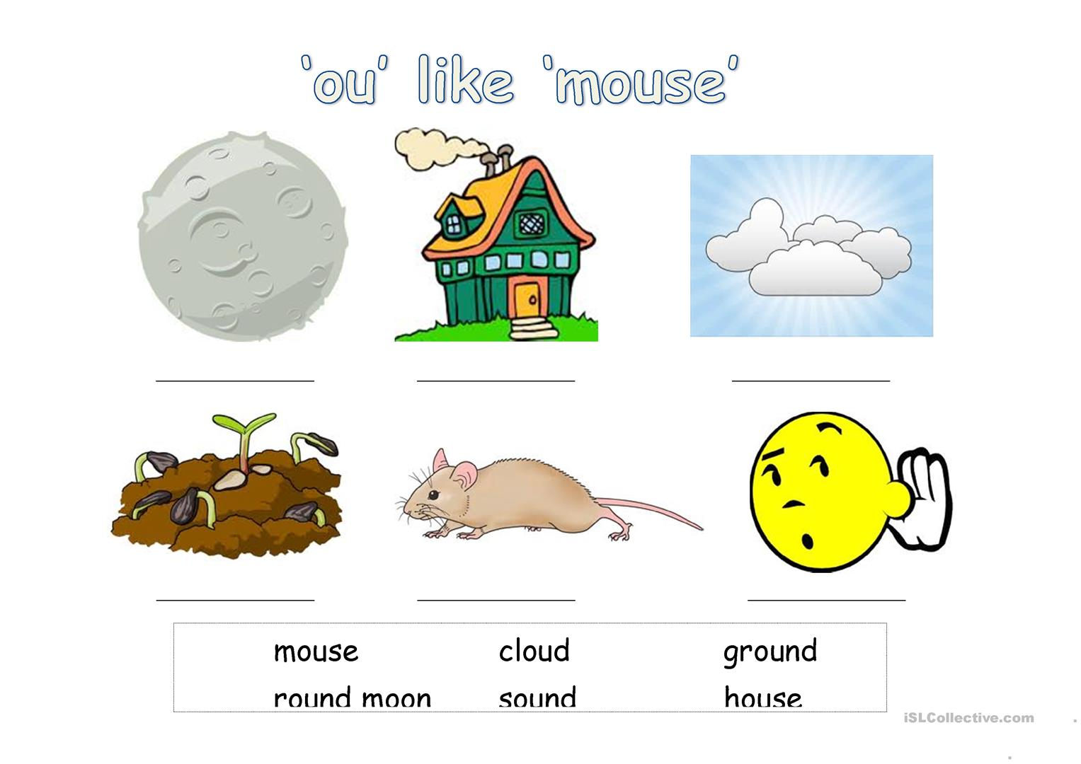 Ou Like Mouse Phonics English Esl Worksheets For Distance Learning And Physical Classrooms