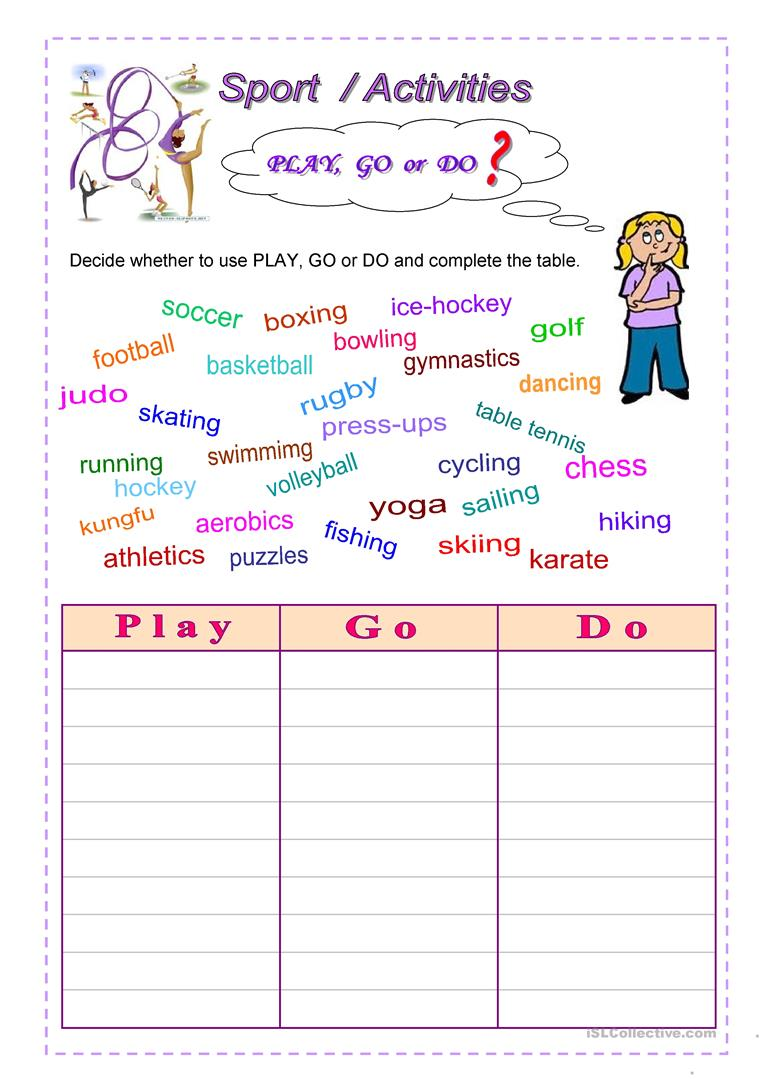 sport activities worksheet free esl printable worksheets made by teachers. Black Bedroom Furniture Sets. Home Design Ideas