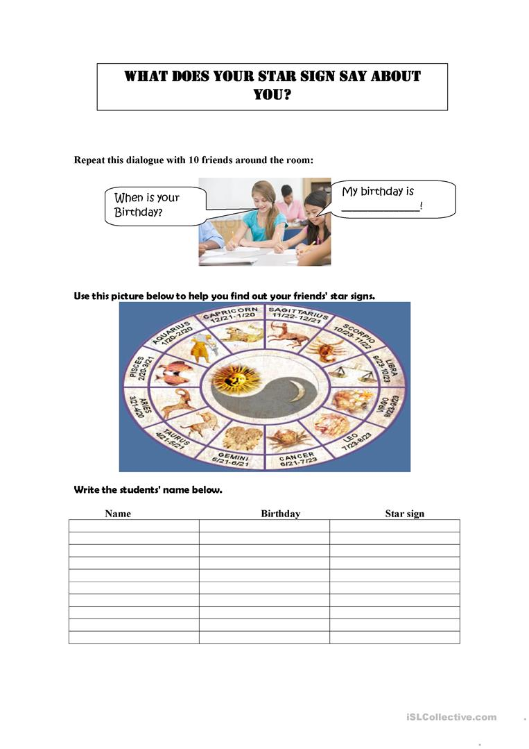 Worksheets Character Traits Worksheets 13 free esl character traits worksheets zodiac signs and describing people