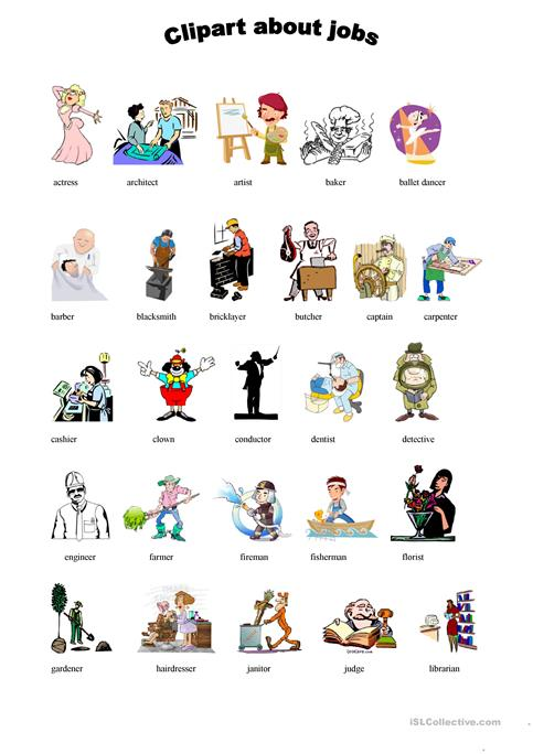 cliparts worksheets about jobs worksheet free esl printable rh en islcollective com jobs clipart free jobs clipart