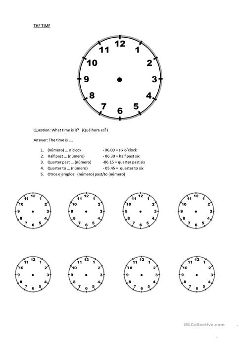 The Time Worksheet Free Esl Printable Worksheets Made By Teachers