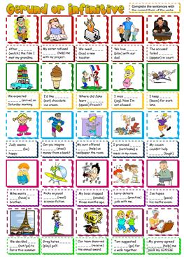 exercise gerunds and infinitives pdf