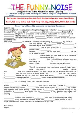 picture regarding Funny Fill in the Blank Stories Printable named English ESL outside of uncomplicated looking through worksheets - Utmost downloaded